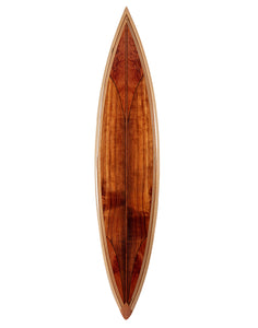 Koa Surfboard w/Exotic Wood Accents # 79