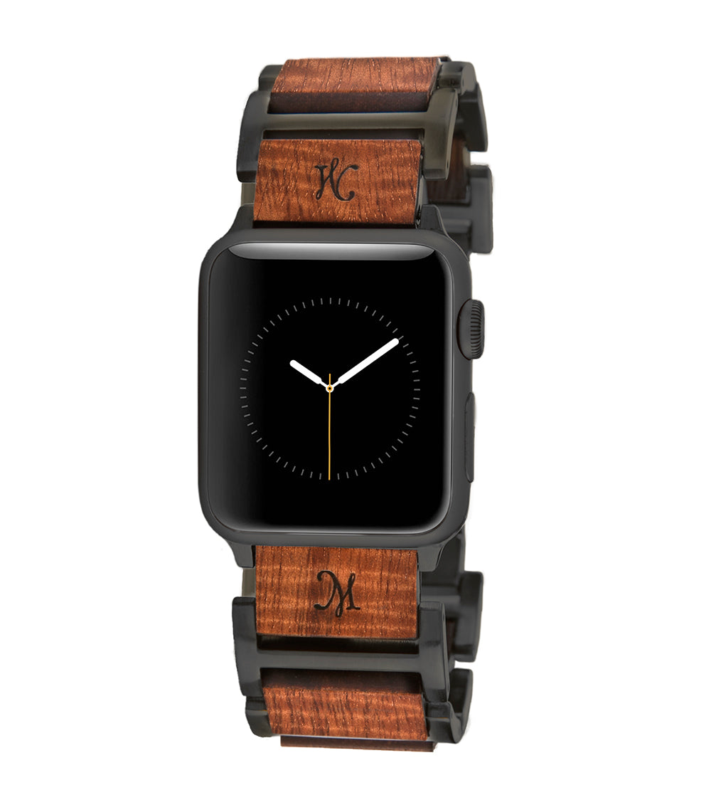 Koa Hybrid Black Apple Watch Band