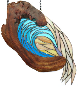 "Stained Glass with Koa ""Wave"""
