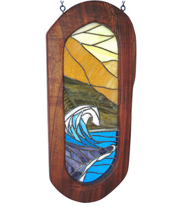 "Stained Glass with Koa ""Crashing Wave"""