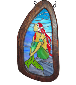 "Stained Glass with Koa ""Mermaid"""