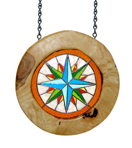 "Stained Glass with Mango ""Compass Rose"""