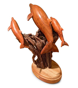 "Koa Wood Sculpture ""Triple Play"""