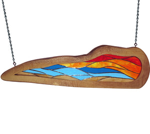 "Stained Glass with Mango ""Freeform Sunset"""