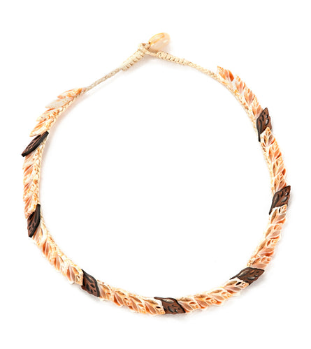 Single Layer with Koa Necklace - 53474