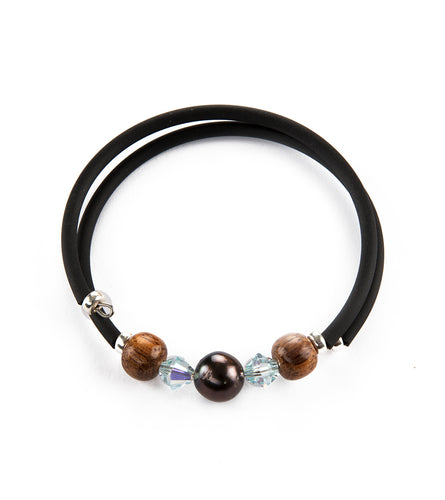 Tahitian Pearl Light Azore Black Adjustable Bracelet