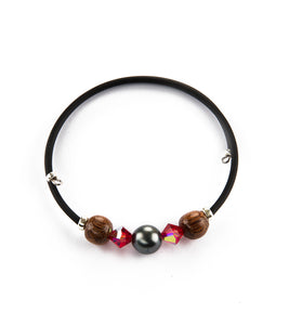 Tahitian Pearl Siam Black Adjustable Bracelet