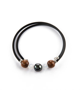 Tahitian Pearl Opal Black Adjustable Bracelet