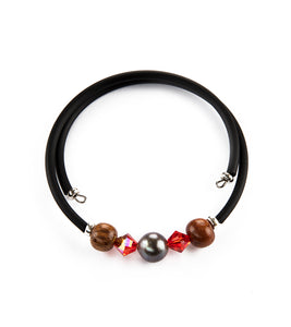 Tahitian Pearl Hyacinth Black Adjustable Bracelet