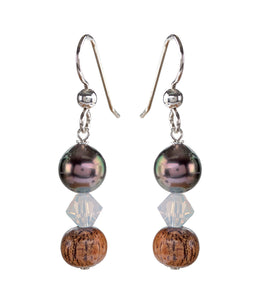 Tahitian Pearl Opal Earrings