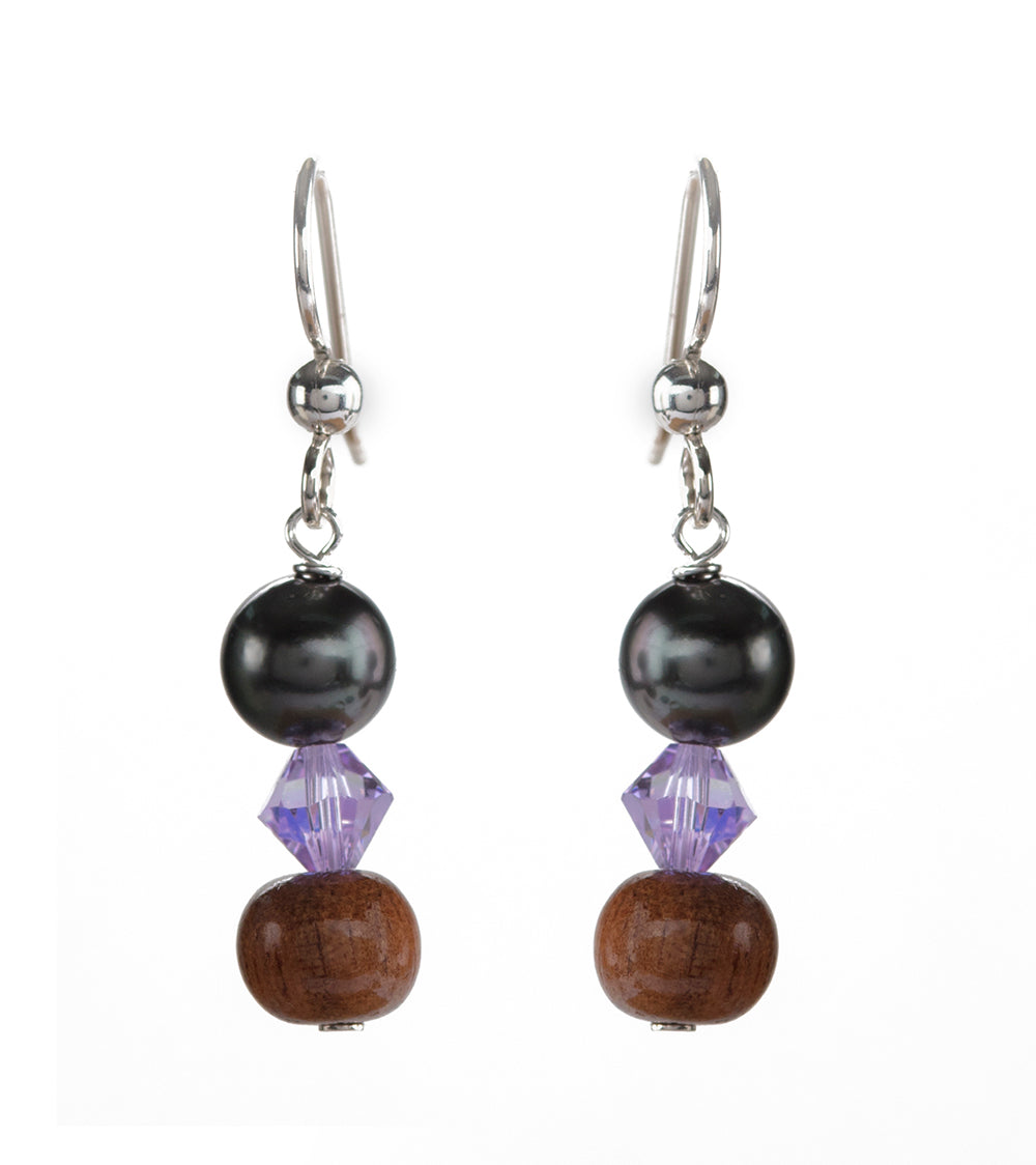 Tahitian Pearl Light Lavender Earrings