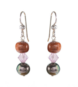 Tahitian Pearl Light Rose Earrings