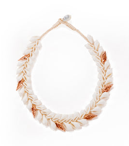Double Layer Shells with Rose Gold Necklace - 53469