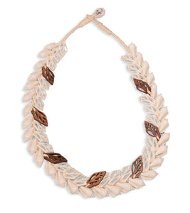 Double Layer Shells with Koa Necklace - 53476