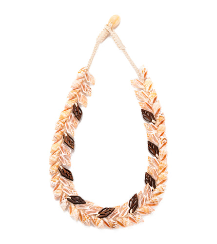 Double Layer Shells with Koa Necklace - 53477