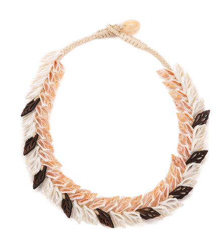 Double Layer Shells with Koa Necklace - 53478