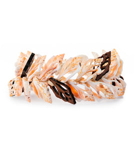 Double Layer Shells & Koa Bracelet - 53484