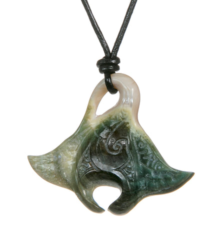 Burgo Shell Manta Ray Necklace - 53513