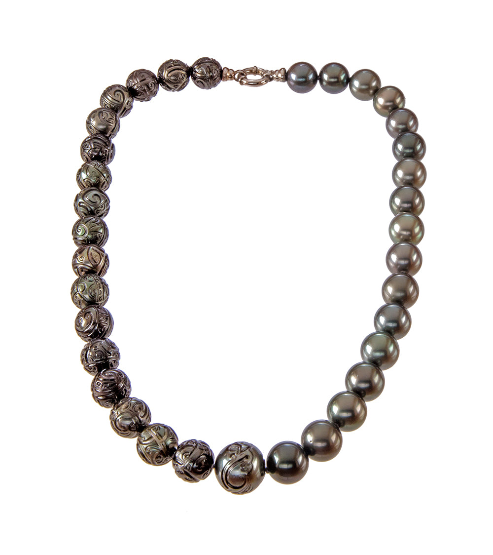 Carved Pearl Strand Necklace 53777