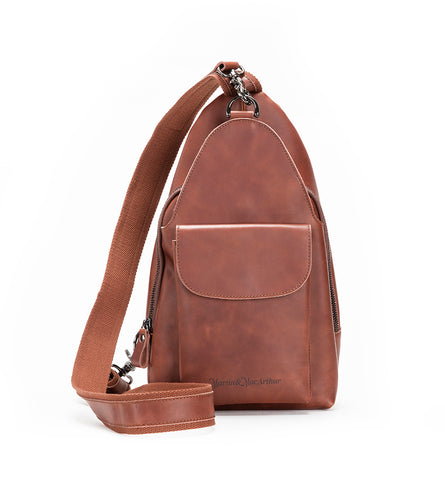 Ultimate Leather Sling Bag - Brown