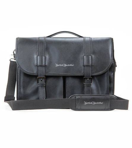 Ultimate Leather Briefcase - Black