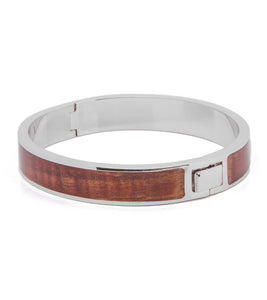 Koa Rhodium Medium Bangle