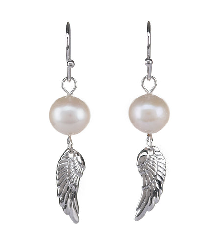 Wing Pearl Earrings