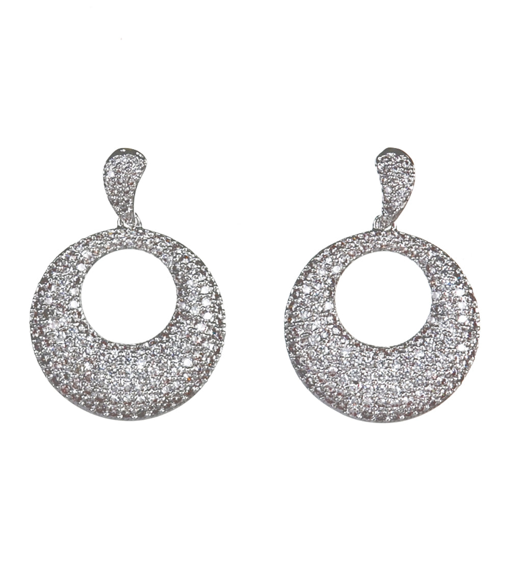 Rhodium Hoop Earrings