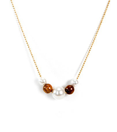 18in Pearl Koa Bead Necklace