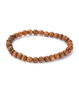 Koa 6mm Bead String Bracelet