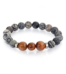 Koa Black & White Stretch Bracelet