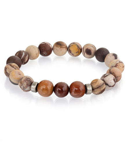 Koa Brown Matte Stretch Bracelet