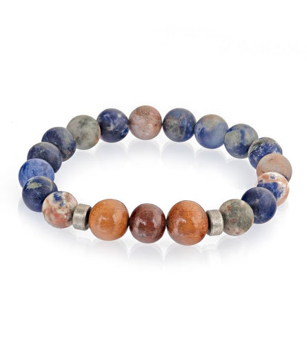 Koa Blue Matte Stretch Bracelet