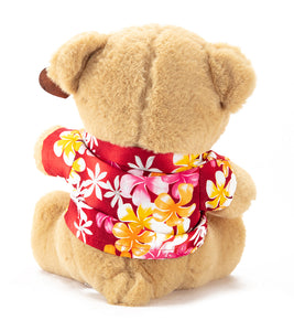 Martin Bear, Milo - Red Aloha Shirt
