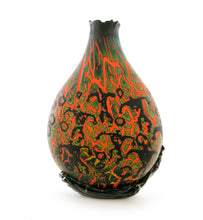 "Glass Crackled w/ Petroglyphs Sculpture ""24360"""