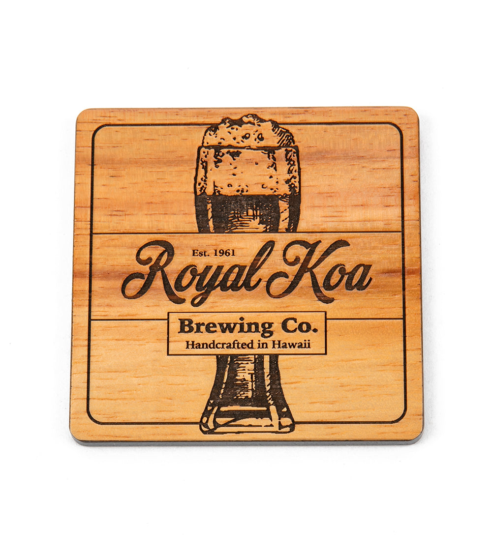 Koa Modern Coaster - Royal Koa Beer