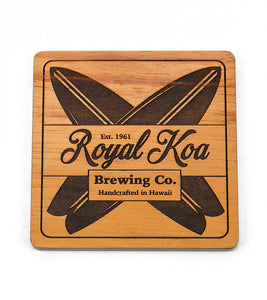 Koa Modern Coaster - Royal Koa Surfboard