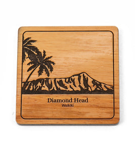 Koa Modern Coaster - Diamond Head