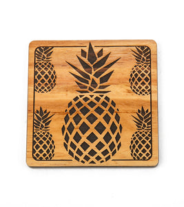 Koa Modern Coaster - Pineapple