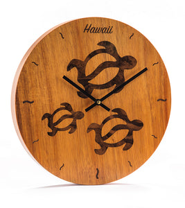 3 Honu Wall Clock