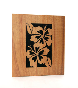 Koa Wall Art - Royal Hibiscus