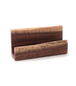 Natural Edge Koa Business Card Holder