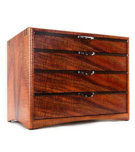 Bishop Koa 4 Drawer - Dark