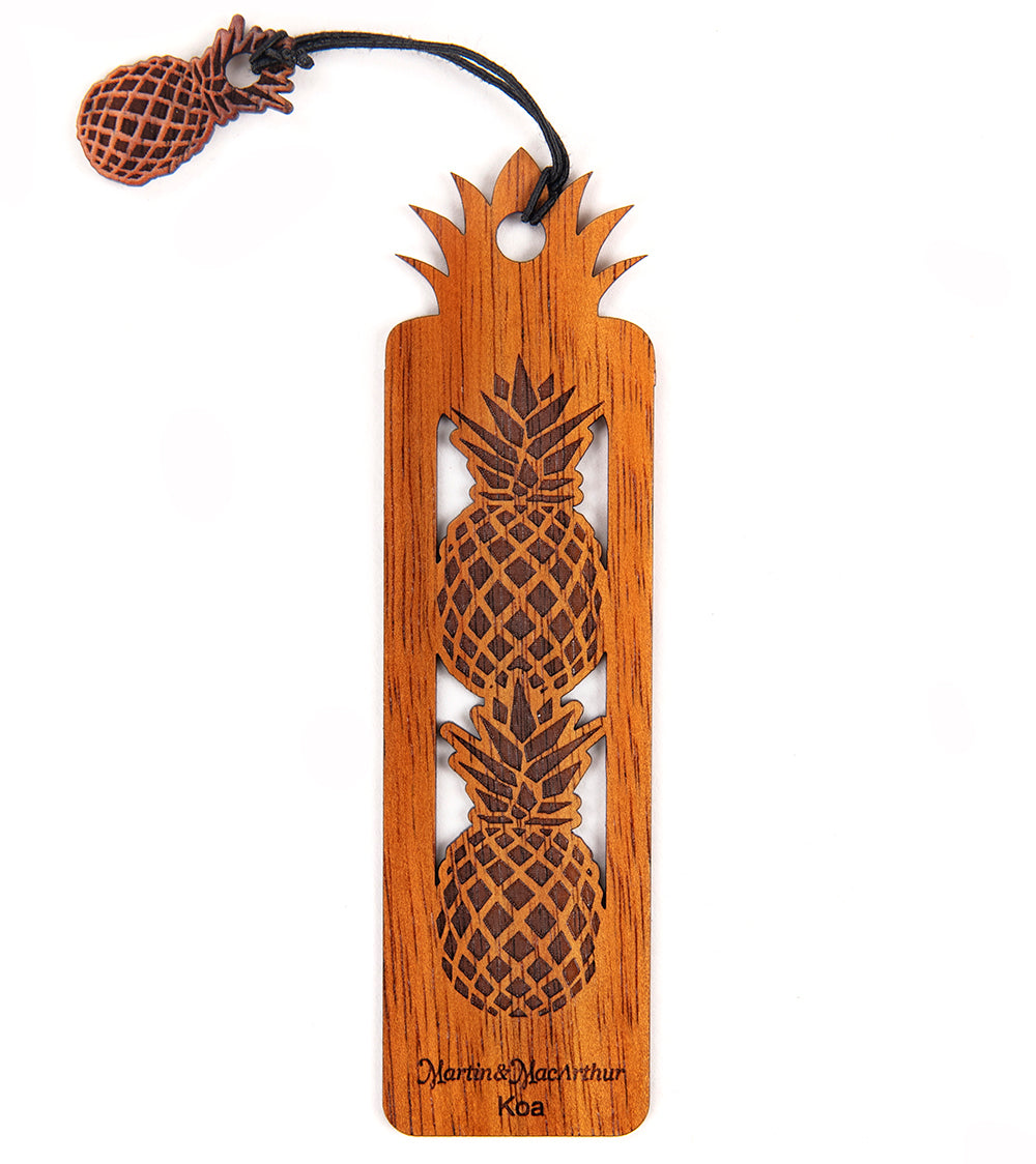 Koa Bookmark - Pineapples