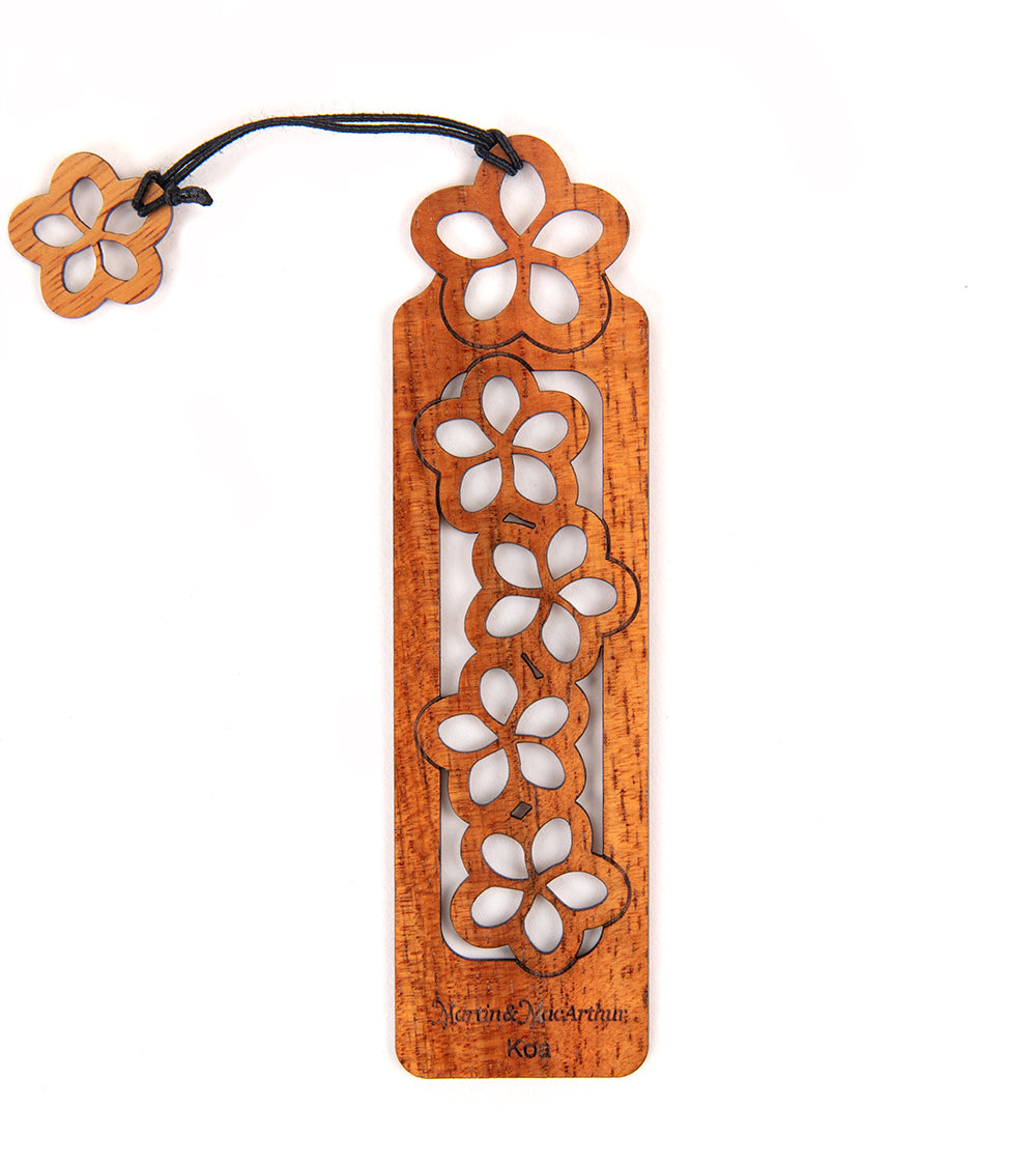 Koa Bookmark - Plumerias
