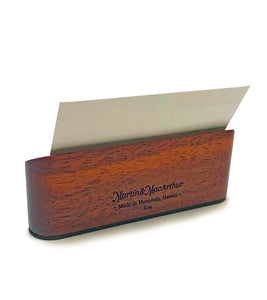 Koa Desk Top Business Card Holder