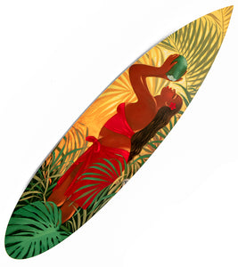 "Metal Surfboard Print ""Fresh Coconut"" by Tim Nguyen"