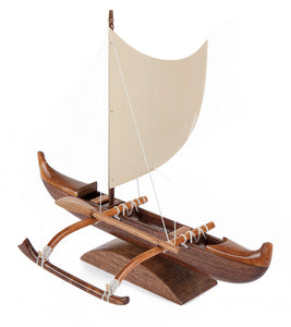 "Koa Mini Canoe ""Fishing Canoe Sail"""