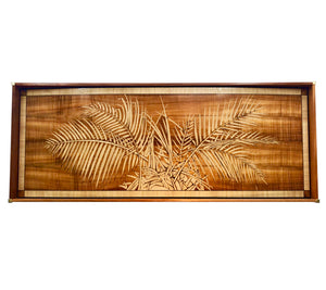 Night Palm Marquetry Wall Art