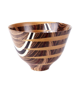 Laminated Zebra Wood Vessel #105